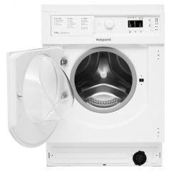 Hotpoint BIWDHG75148UKN Built-In Washer Dryer White