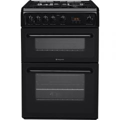 Hotpoint HAG60K 60Cm Double Gas Oven Black