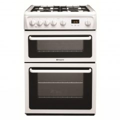 Hotpoint HAG60P Gas 60Cm Double Oven White