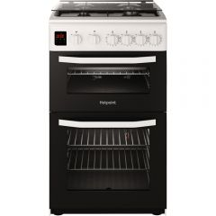 Hotpoint HD5G00CCW 50Cm Gas Double Oven Cooker White