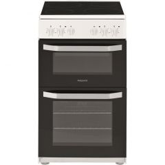 Hotpoint HD5V92KCW 50Cm Twin Cavity Oven White
