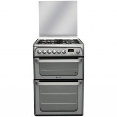 Hotpoint HUG61G 60Cm Gas Double Oven Graphite