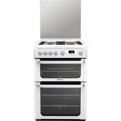 Hotpoint HUG61P 60Cm Gas Double Oven White