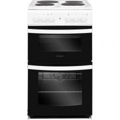 Indesit ID5E92KMW Twin Cavity Electric Cooker White