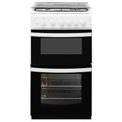 Indesit ID5G00KMWL Twin Cavity Gas Cooker White