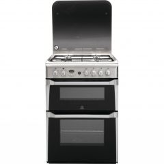 Indesit ID60G2X 60Cm Gas Double Oven Stainless Steel