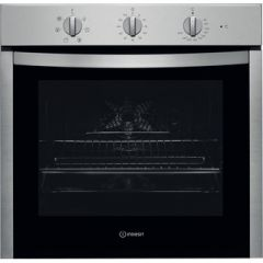 Indesit IFV5Y01X Single Fan Oven Low Height For Gas Hob Stainlees Steel
